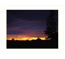 Northern Calif. Sunset Series Art Print