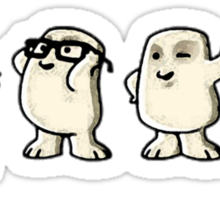 Adiposes Invasion - Cute Nerdy Doctor Who Sticker