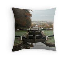 Caen Hill Locks, Devizes, England Throw Pillow