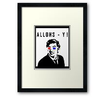 David Tennant Allons Y - Doctor Who Must Have Framed Print