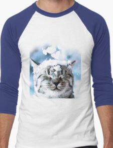 Snow Cat  Men's Baseball ¾ T-Shirt