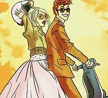 Rose and Tennant - 50's Style Doctor Who by peetamark
