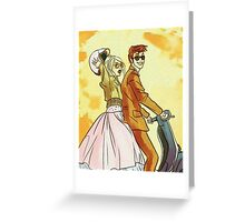 Rose and Tennant - 50's Style Doctor Who Greeting Card