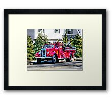 Old Fashioned Fire Truck Framed Print