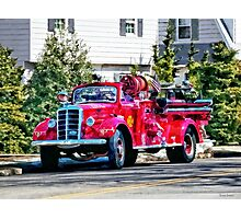 Old Fashioned Fire Truck Photographic Print