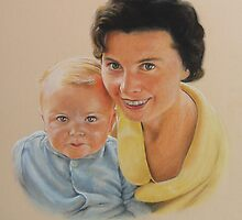 My wife Sylvia and son Simon. by Brian Towers
