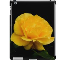 Golden Yellow Rose Isolated on Black Background iPad Case/Skin