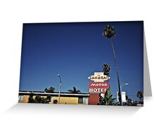 Saharan Motor Hotel Greeting Card