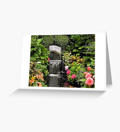 Butchart Waterfall Greeting Card