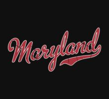 Maryland Script VINTAGE Red by USAswagg