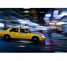 NYC Taxi 1W91 Photographic Print