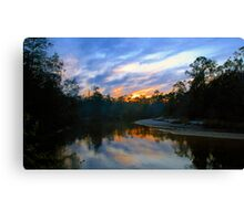 """""""Black Water River Sunset"""" Canvas Print"""