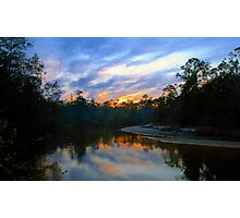 """Black Water River Sunset"" Photographic Print"