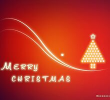 Christmas Greeting Card Design - Merry Xmas by Givens87