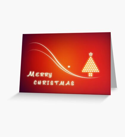 Christmas Greeting Card Design - Merry Xmas Greeting Card