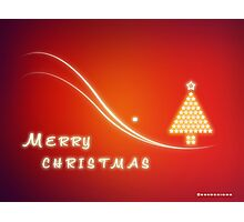 Christmas Greeting Card Design - Merry Xmas Photographic Print