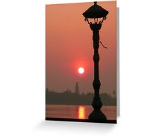 mekong river sunrise - cambodia Greeting Card