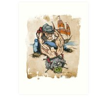 Popeye and His Spinach Art Print