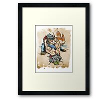 Popeye and His Spinach Framed Print