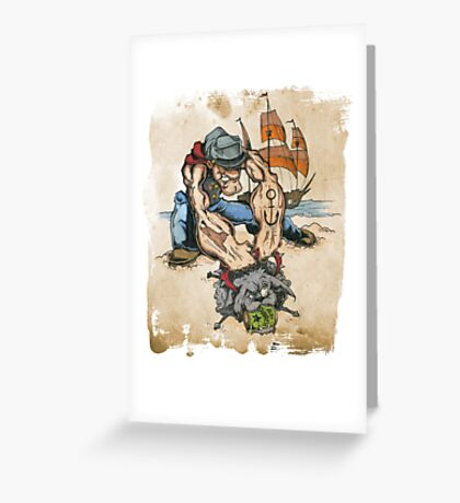 Popeye and His Spinach Greeting Card