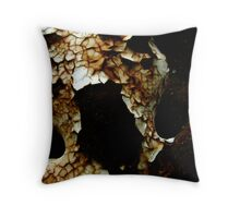 Rust/Screaming Mouth Throw Pillow