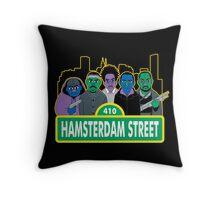Hamsterdam Street Throw Pillow