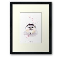 Cute Adorable Hedgehog  Framed Print