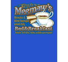 Meemaw's Bed & Breakfast Photographic Print