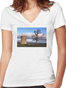 A Tree With A View Women's Fitted V-Neck T-Shirt