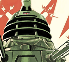 Daleks to the Victory - Doctor Who Sticker