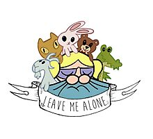 Leave Me Alone: Bubbles Photographic Print