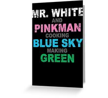 Breaking Bad Colors Greeting Card