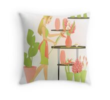 Special Arrangements-Coral Throw Pillow