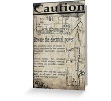 Steampunk Advisory Warning Greeting Card