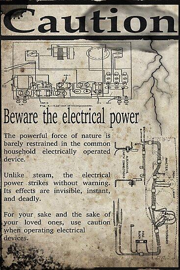 Steampunk Advisory Warning by Jon Burke
