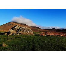A Rock In The Clouds Photographic Print