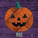 License Plate Art Pumpkin Halloween Boo by designturnpike