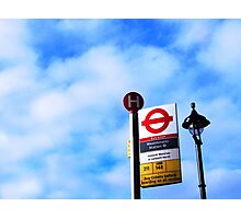 The bus stop at Westminster Photographic Print