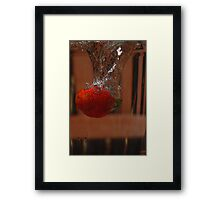 Berry takes a Dive #2 Framed Print