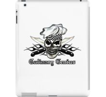 Chef Skull 8: Culinary Genius 3 black flames iPad Case/Skin
