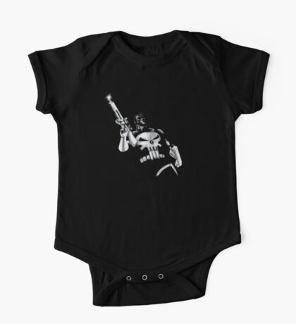 Punisher Black and White One Piece - Short Sleeve