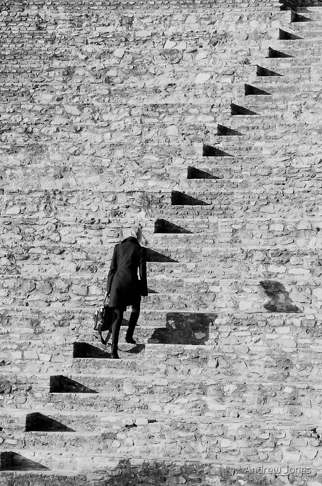 The path of Triangles, The Roman Theatre, Lyon, France by Andrew Jones