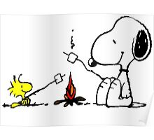 Snoopy and Woostock Peanuts Poster