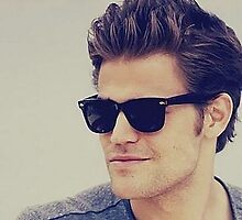 Paul Wesley sunglasses - phone & ipad cases by DirtyWasilewski