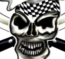 Chef Skull 8: Culinary Genius 3 white flames Sticker