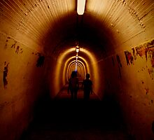 Durie Hill Tunnel, N.Z. by Janine  Hewlett