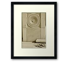 Sandals at the Mosque Framed Print