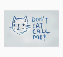 Don't Cat Call Me! Blue Watercolor II by Kayleigh Morin