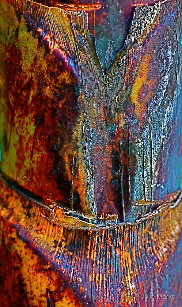 Blue Bark Art by Julie Marks