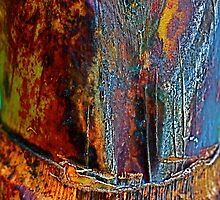 Blue Bark Art by Julie Marks